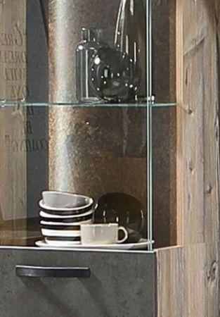 Wohnwand Kalomira in Bramberg Fichte und Betonoptik grau Anbauwand inkl. LED Beleuchtung 4-teilig 315 x 204 cm