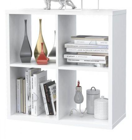 Regal System Mauro in weiß Standregal 73 x 73 cm Bücherregal quadratisch Raumteiler