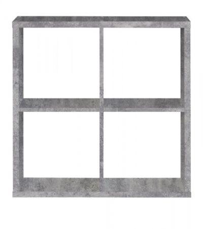Regal System Mauro in Beton Design grau Standregal 73 x 73 cm Bücherregal quadratisch Raumteiler
