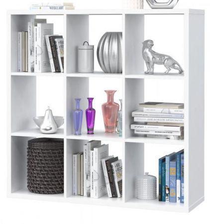 Regal System Mauro in weiß Standregal 107 x 107 cm Bücherregal quadratisch Raumteiler