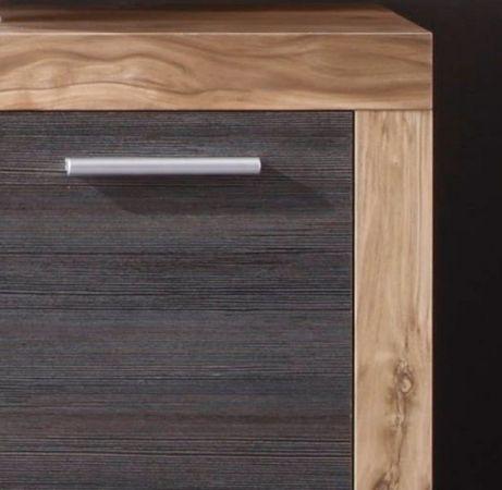 Highboard Vitrine Boom Nussbaum und Touchwood dunkel Schrank inkl. LED Beleuchtung