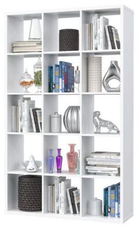Regal System Mauro in weiß Standregal 107 x 176 cm Bücherregal Raumteiler