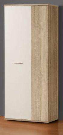 Schuhschrank Net in weiß und Sonoma Eiche Garderobe 69 x 179 cm Flurgarderobe