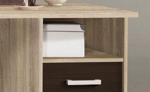 Schreibtisch Net in Sonoma Eiche und Denver Eiche Laptoptisch mit Schubkästen für Homeoffice und Büro 148 x 75 cm