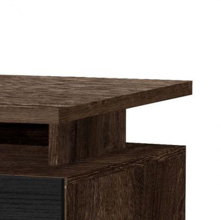 Schreibtisch Net in Schlammeiche und Schwarzeiche / Eiche Laptoptisch mit Schubkasten für Homeoffice und Büro 140 x 73 cm