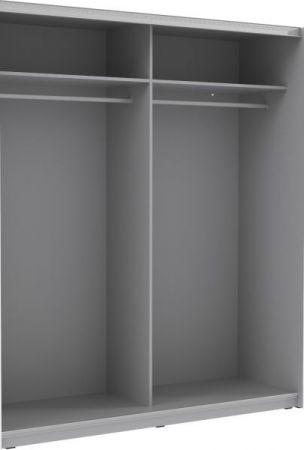 """Schwebetürenschrank Plakato in weiß mit Motivdruck """"New York"""" Kleiderschrank 2-türig 170 x 190 cm"""