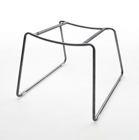 2 x Stuhl mit Armlehne Tessera in Schlamm Kunstleder und Kufengestell Anthrazit lackiert Esszimmerstuhl 2er Set Clubsessel