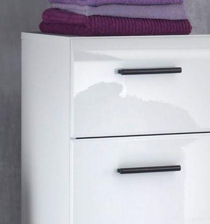 """Badezimmer: Hochschrank """"Skin"""" Hochglanz weiß (60 x 182 cm)"""