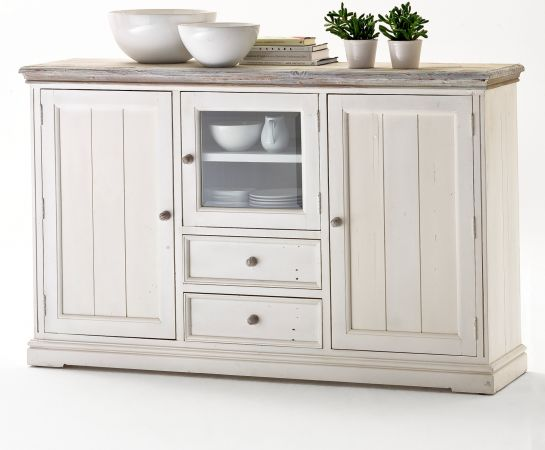 Highboard Opus Kiefer weiss massiv 182 cm