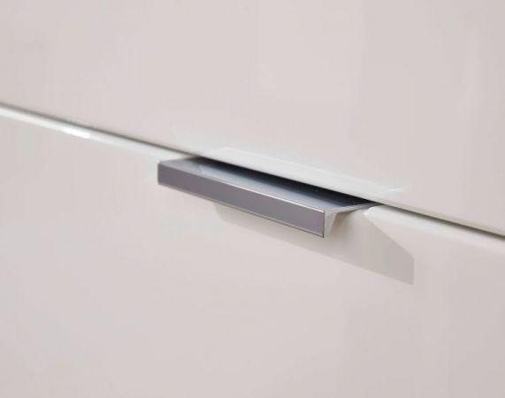 Badezimmer Hochschrank Concept1 in Hochglanz weiß und Graphit grau Badmöbel 40 x 192 cm Badschrank