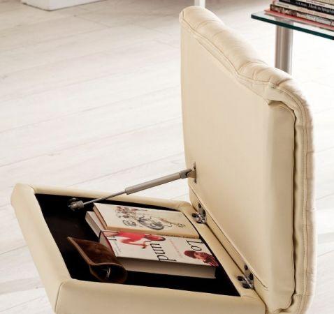 Relaxsessel Calgary in schwarz Leder und Walnuss mit Hocker Funktionssessel 90 x 104 cm Schlafsessel Fernsehsessel