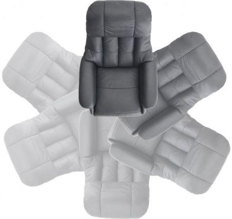 Relaxsessel Calgary L in braun Leder und Natur Funktionssessel bis 130 kg Schlafsessel Fernsehsessel 77 x 111 cm