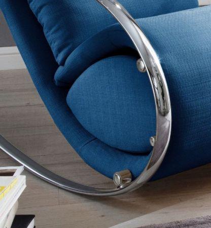 Relaxsessel Schaukelsessel York in blau mit Hocker Funktionssessel 67 x 111 cm Schlafsessel Fernsehsessel