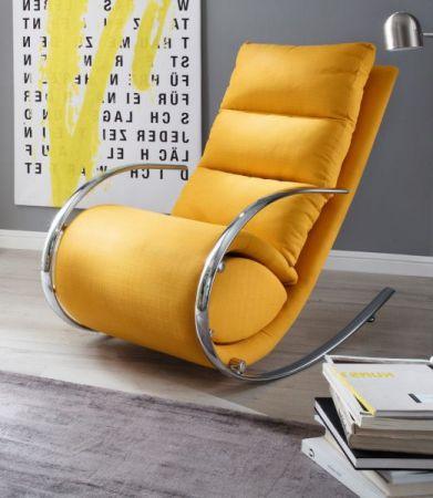 Relaxsessel Schaukelsessel York in gelb mit Hocker Funktionssessel 67 x 111 cm Schlafsessel Fernsehsessel