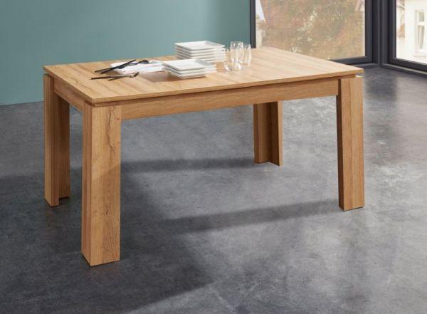 Esstisch in Wotan Eiche Küchentisch ausziehbar mit Einlegeplatte 160 - 200 x 90 cm Holztisch
