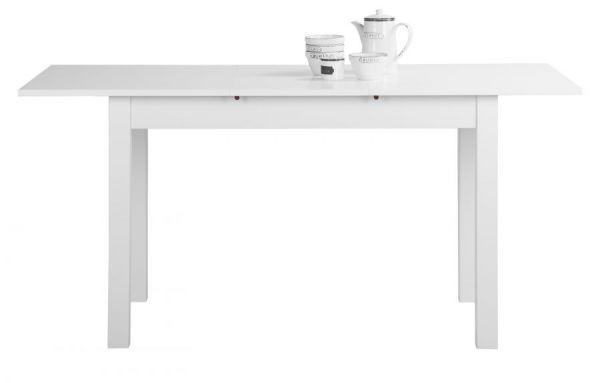 """Esstisch """"Coburg"""" in weiß ausziehbar (120-160 x 70 cm)"""
