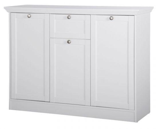 "Kommode ""Landwood"" in weiß Landhausstil - Sideboard 120 x 90 cm"