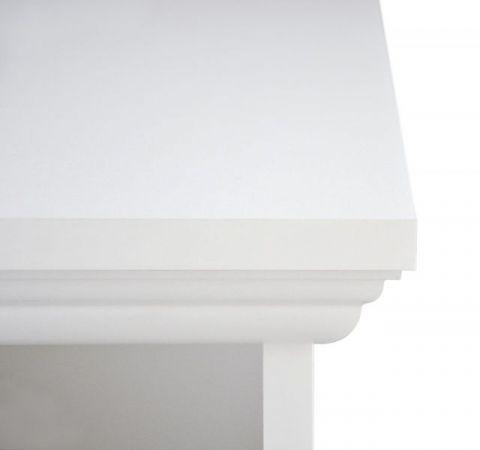"""Schubkastenkommode """"Landwood"""" in weiß Landhausstil - Kommode 80 x 90 cm"""