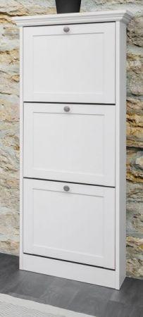 """Schuhschrank """"Landwood"""" in weiß Schuhkipper im Landhausstil 50 x 130 cm"""