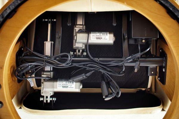 Relaxsessel Calgary XL in braun Leder und Natur elektrisch verstellbar Funktionssessel bis 150 kg Fernsehsessel 82 x 111 cm