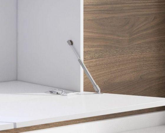 """TV Lowboard """"Space"""" in grau Hochglanz Lack TV Unterteil hängend / stehend 160 cm mit LED"""