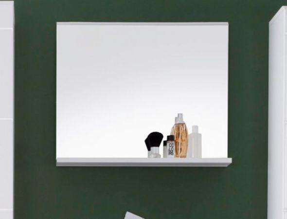 Badezimmer Spiegel weiß mit Ablage Mezzo 60x50 cm