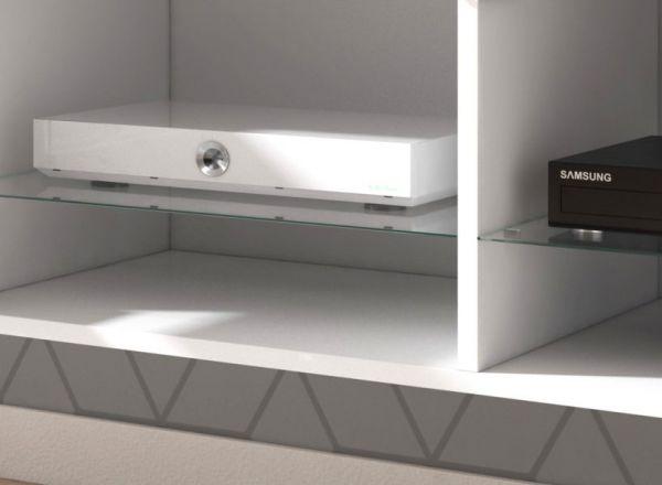 """TV-Lowboard """"Rial"""" in weiß Hochglanz hängend 100 x 35 cm mit LED Beleuchtung"""