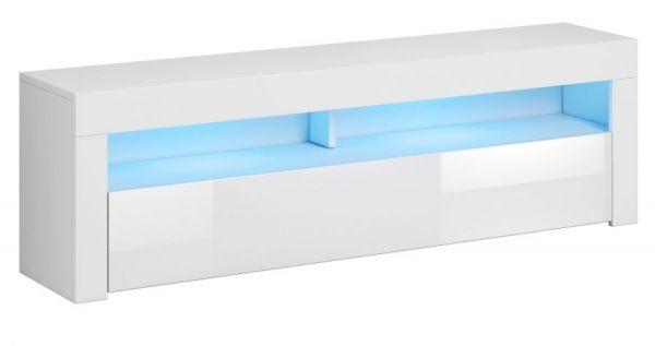 "TV-Lowboard ""Live"" in weiß Hochglanz 140 x 50 cm mit LED Beleuchtung"