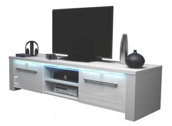 "TV-Lowboard ""Harlem"" in weiß Hochglanz mit LED Beleuchtung 140 x 40 cm"