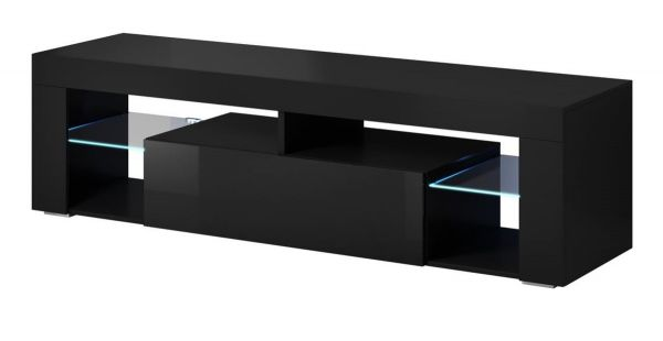 "TV Lowboard ""Mount"" in schwarz Hochglanz 160 x 50 cm"