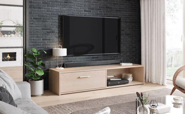 TV-Lowboard Start in Sonoma Eiche TV-Unterteil 140 x 29 cm TV Board
