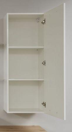Badezimmer Hängeschrank One in Hochglanz weiß Lack Badschrank 45 x 116 cm Badmöbel