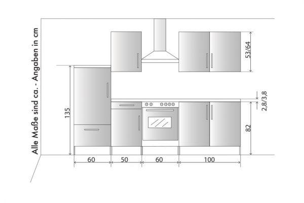 """Küchenblock Einbauküche """"White Premium"""" weiß Hochglanz Lack inkl. E-Geräte 270 cm"""
