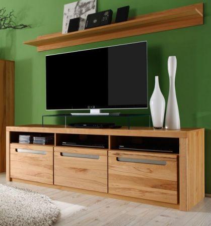 TV-Lowboard Zino in Kernbuche teil massiv geölt TV-Unterteil 178 x 59 cm Fernsehtisch