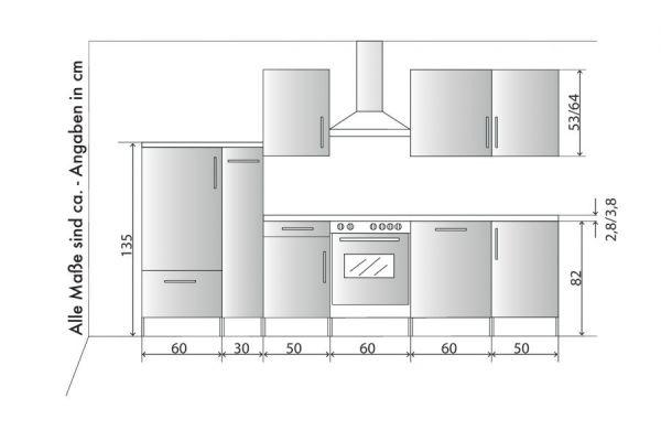 """Küchenblock Einbauküche """"White Premium"""" weiß Hochglanz Lack inkl. E-Geräte + Geschirrspüler und Apothekerschrank 310 cm"""