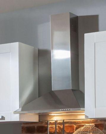 """Küchenblock Einbauküche """"White Premium"""" weiß matt Landhaus inkl. E-Geräte 270 cm"""