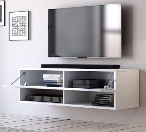 """TV Lowboard """"Epsom"""" in weiß Hochglanz hängend 100 x 30 cm"""