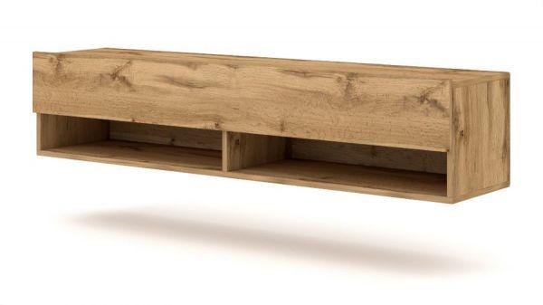 """TV Lowboard """"Epsom"""" in Wotan Eiche hängend 140 x 30 cm"""