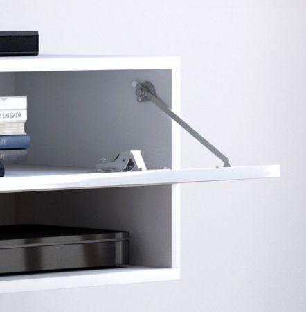 """TV Lowboard """"Epsom"""" in weiß Hochglanz hängend 200 x 30 cm"""