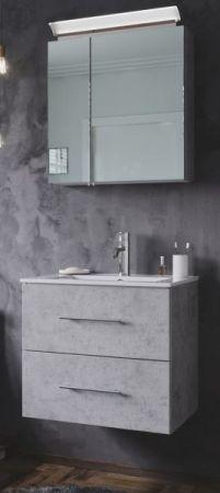 Waschbeckenunterschrank Homeline in Stone Design grau Waschtisch hängend inkl. Waschbecken 2-teilig 60 x 54 cm
