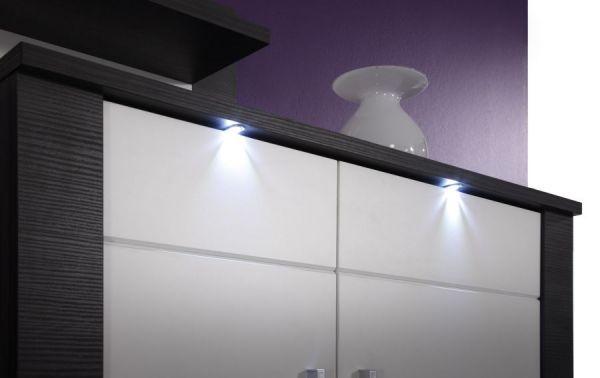 Hängeschrank Badschrank Xpress Esche grau weiß 40 x 80 cm inkl. LED Beleuchtung