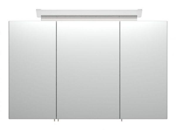 Badezimmer Spiegelschrank Homeline in Stone Design grau inklusive Design LED Spiegellampe 3-türig 100 x 62 cm