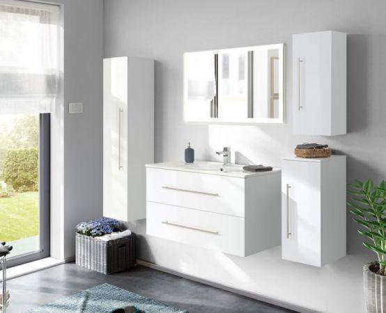 Badspiegel Homeline inkl. LED Beleuchtung mit Touch Bedienung Badezimmer Spiegel weiß 140 x 60 cm