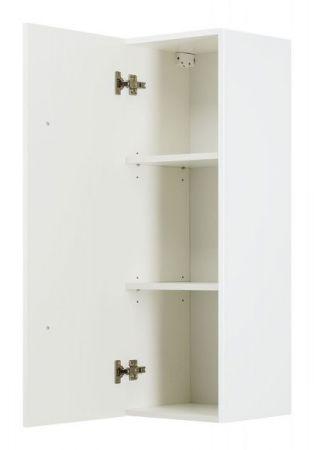 Badezimmer Hochschrank hängend Homeline in Hochglanz weiß Badschrank 35 x 100 cm Badmöbel Midischrank