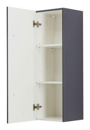 Badezimmer Hochschrank hängend Homeline in anthrazit Seidenglanz Badschrank 35 x 100 cm Badmöbel Midischrank