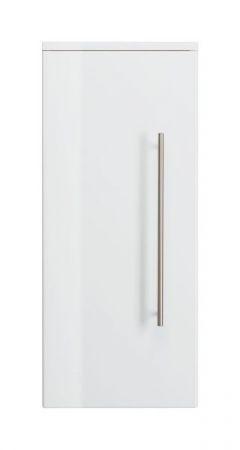 Badezimmer Hängeschrank Homeline in Hochglanz weiß Badschrank 30 x 70 cm Badmöbel