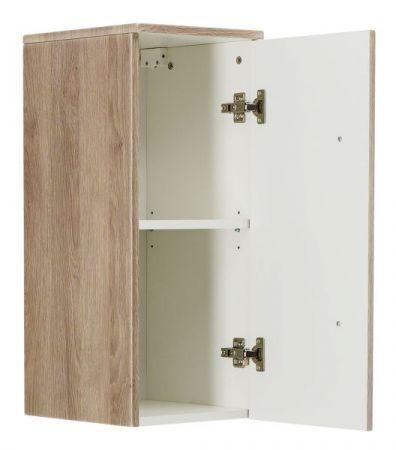 Badezimmer Hängeschrank Homeline in Sonoma Eiche hell Badschrank 30 x 70 cm Badmöbel Kommode