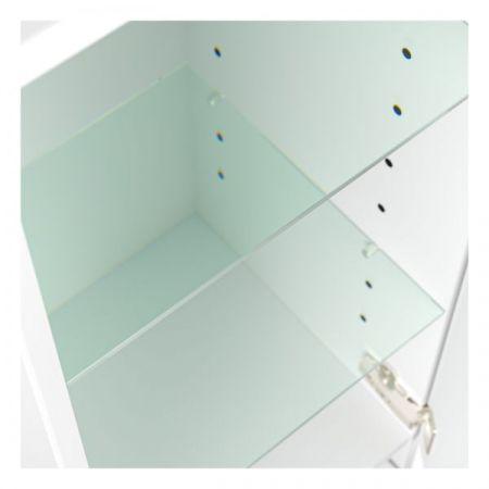 Badezimmer Hochschrank hängend Homeline in Hochglanz weiß Badschrank 35 x 120 cm Badmöbel