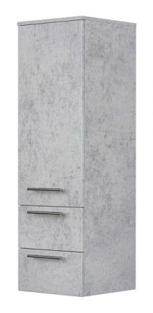 Badezimmer Hochschrank hängend Homeline in Stone Design grau Badschrank 35 x 120 cm Badmöbel