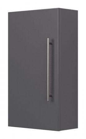 Badezimmer Hängeschrank Homeline in anthrazit Seidenglanz Badschrank 35 x 62 cm Badmöbel
